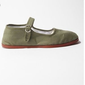 Urban outfitters green Mary Janes never worn